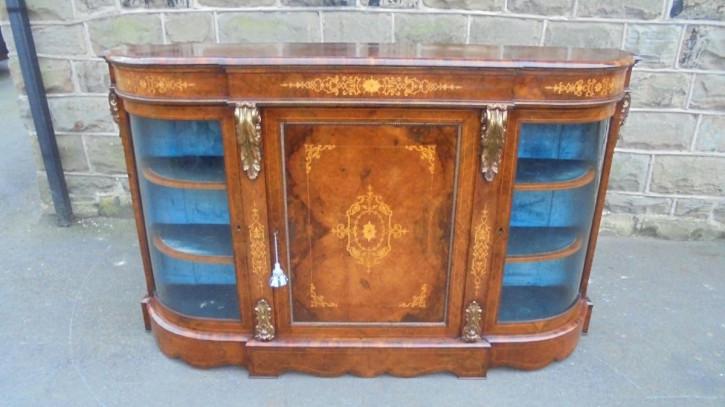 Englisches Nussbaum Sideboard original antik ca 1860