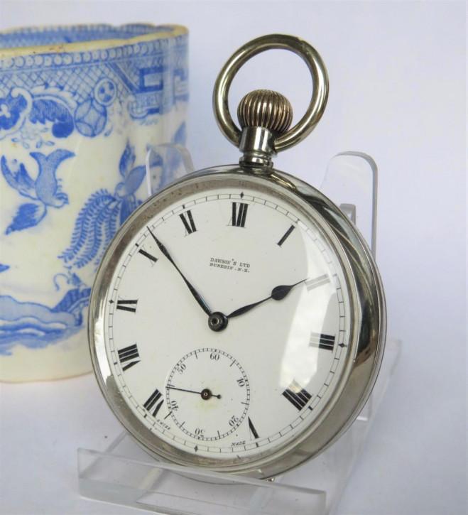 Antike britische Omega Taschenuhr Nickel ca 1910