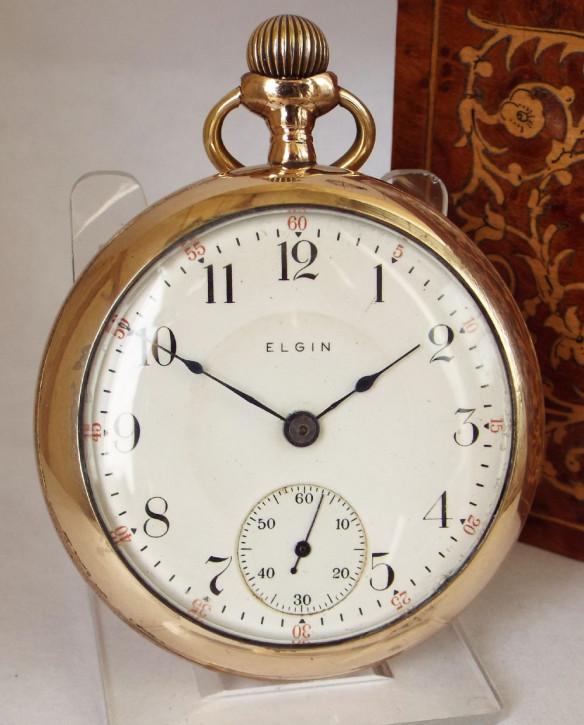 Antike englische Gold Taschenuhr Kettenuhr ca 1911