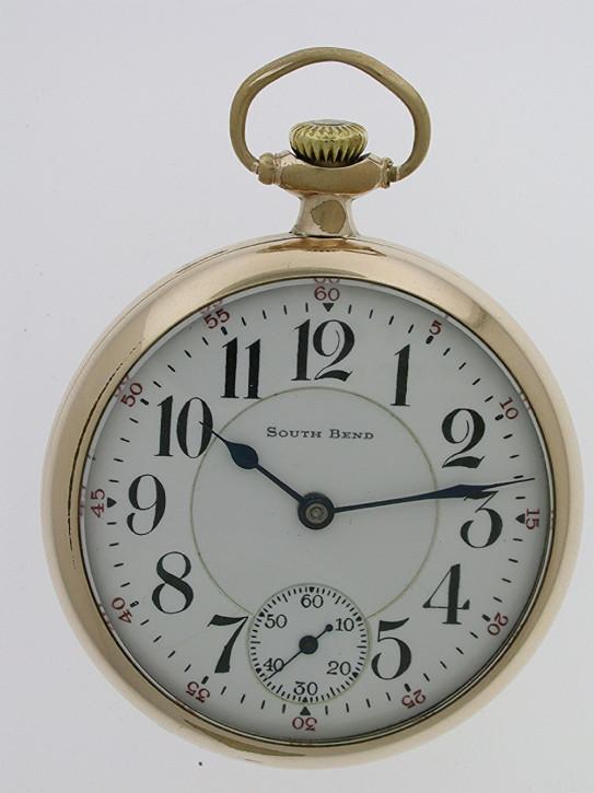 Antike amerikanische Taschenuhr Gold Kettenuhr 1930