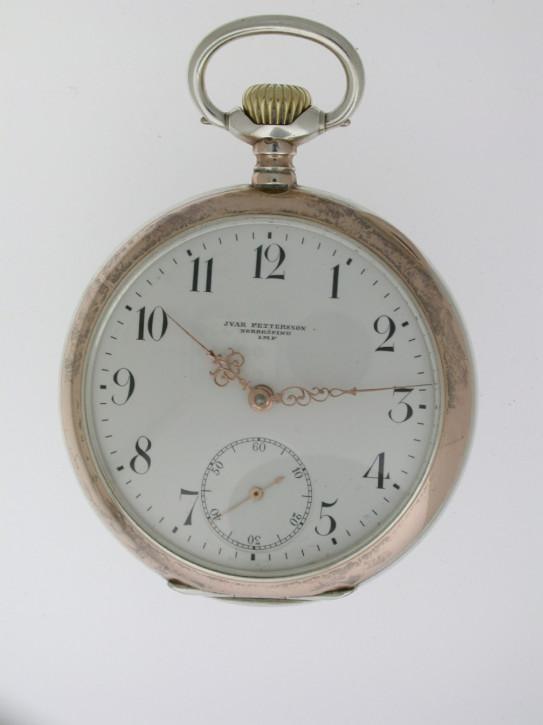 Antike Schweizer Silber Taschenuhr Kettenuhr  1920