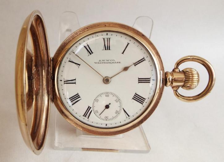 Antike Gold Taschenuhr Kettenuhr englisch ca 1928