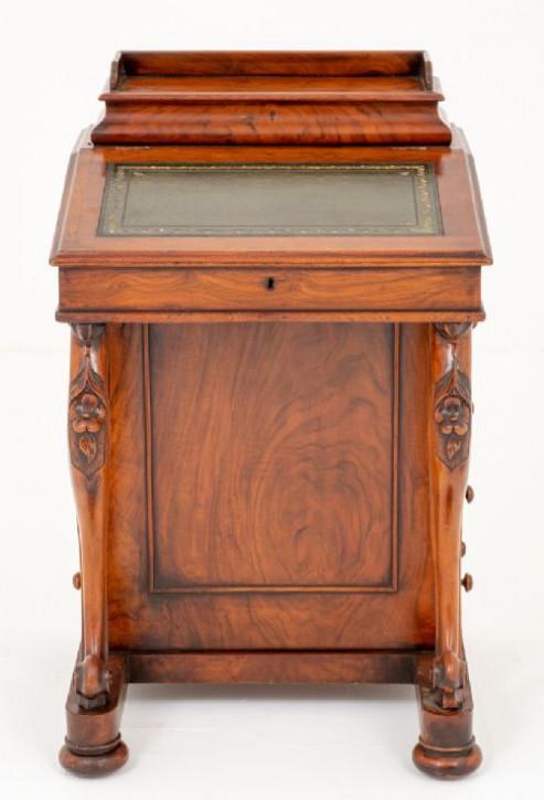 Viktorianischer antiker Nussbaum Schreibtisch Davenport ca 1860