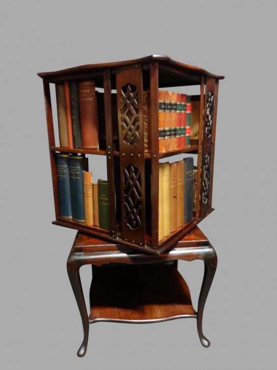 Antikes Mahagoni Revolving Bookcase Bücherregal englisch ca 1910