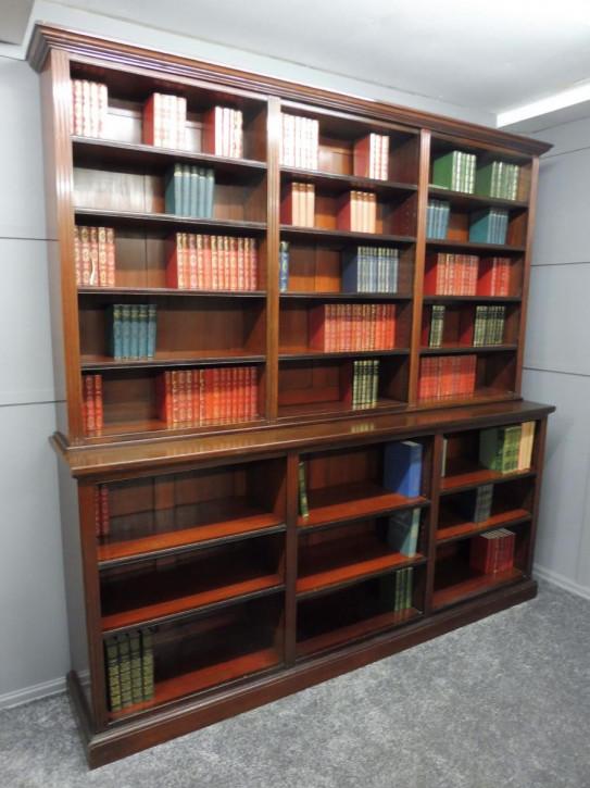 Viktorianischer antiker Mahagoni Bücherschrank Landhaus ca 1890