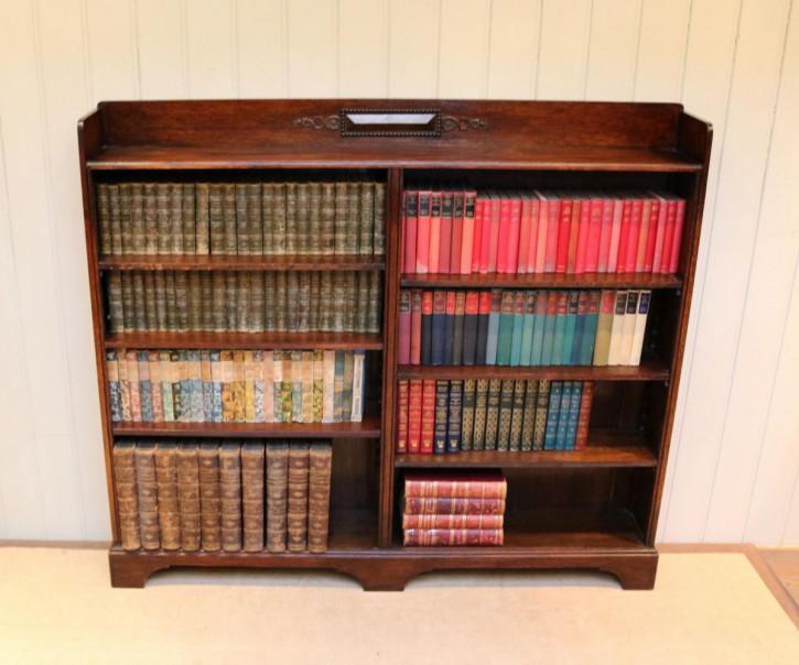 Antikes britisches Bücherregal Eiche ca 1920