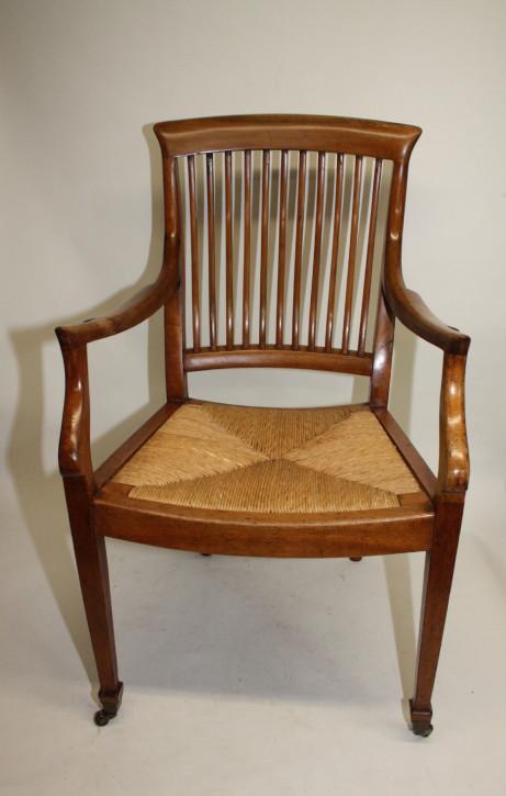 Edwardianischer antiker Birken Stuhl Esszimmerstuhl britisch ca 1890
