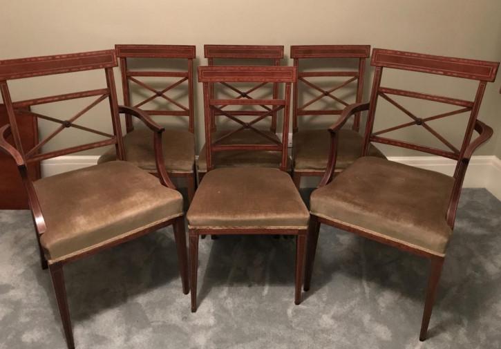 Edwardianische antike Mahagoni Stühle Esszimmerstühle englisch ca 1900