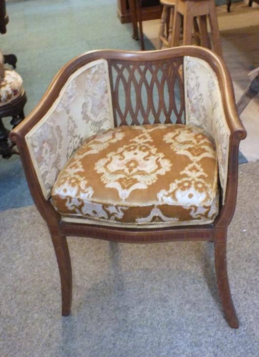 Edwardianischer Mahagoni Stuhl Sessel englisch antik ca 1890