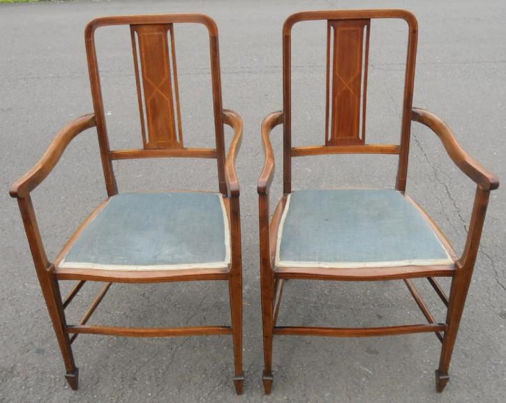 Edwardianische antike Mahagoni Stühle Esszimmerstühle britisch ca 1900
