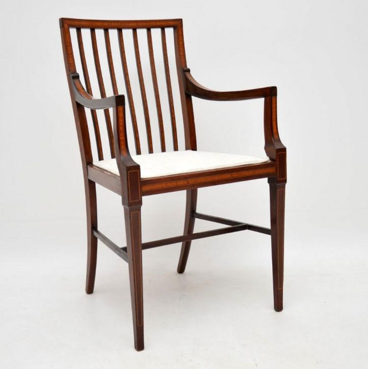 Antiker edwardianischer Mahagoni Stuhl Esszimmerstuhl ca 1890