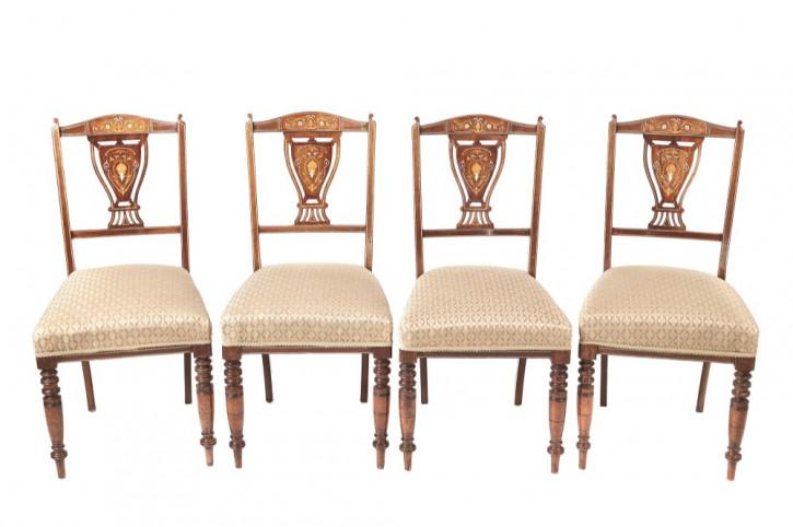 Edwardianische antike Palisander Stühle Küchenstühle englisch ca 1890