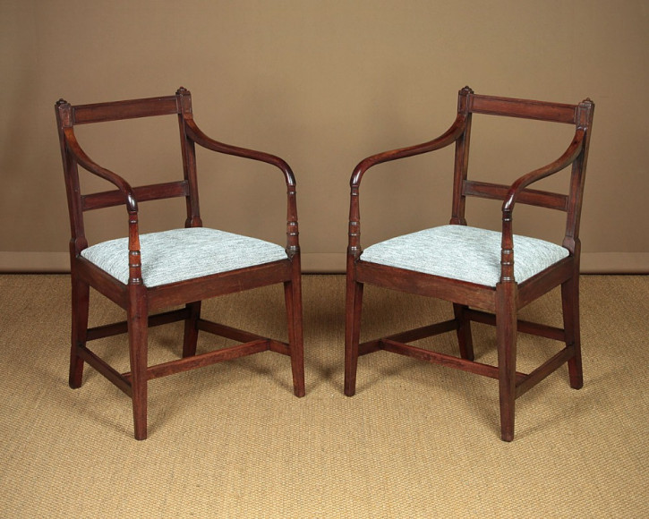 Antike britische Mahagoni Stühle Regency Esszimmerstühle ca 1820