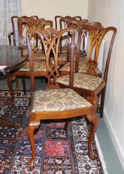 Antike georgianische Mahagoni Stühle Esszimmerstühle britisch ca 1920