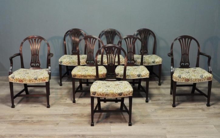 Antike britische Mahagoni Stühle Küchenstühle ca 1920