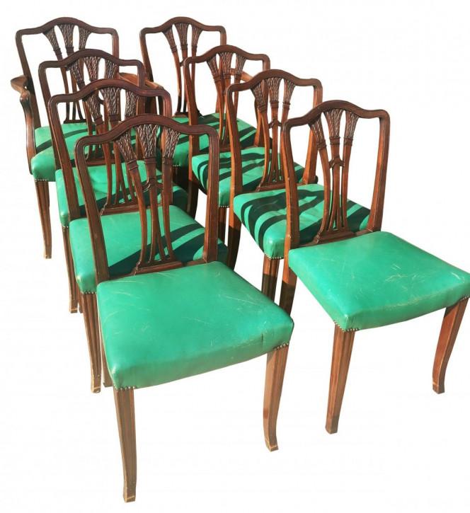 Antike britische Mahagoni Stühle Esszimmerstühle ca 1920