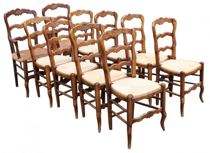 Französische viktorianische antike Eiche Stühle ca 1890