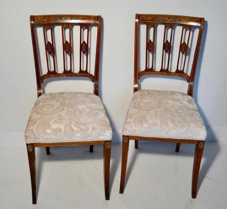 Edwardianische antike Palisander Stühle britisch ca 1890