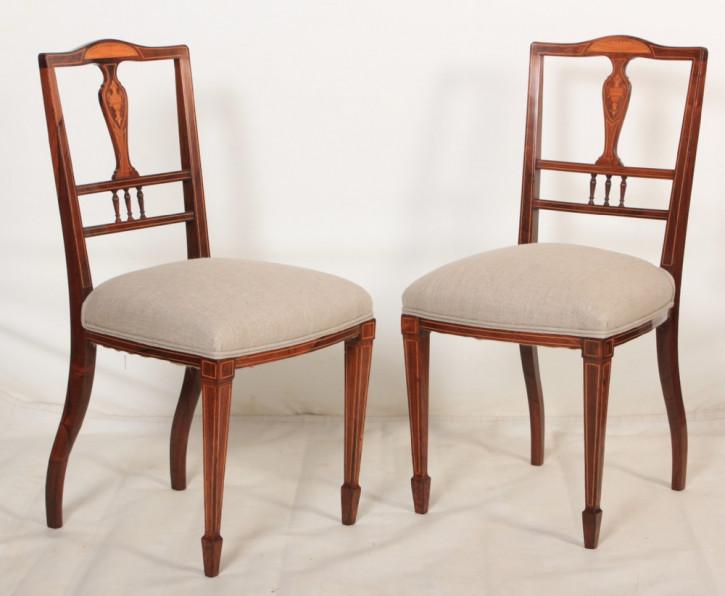 Englische antike Palisander Stühle Küchenstühle ca 1900