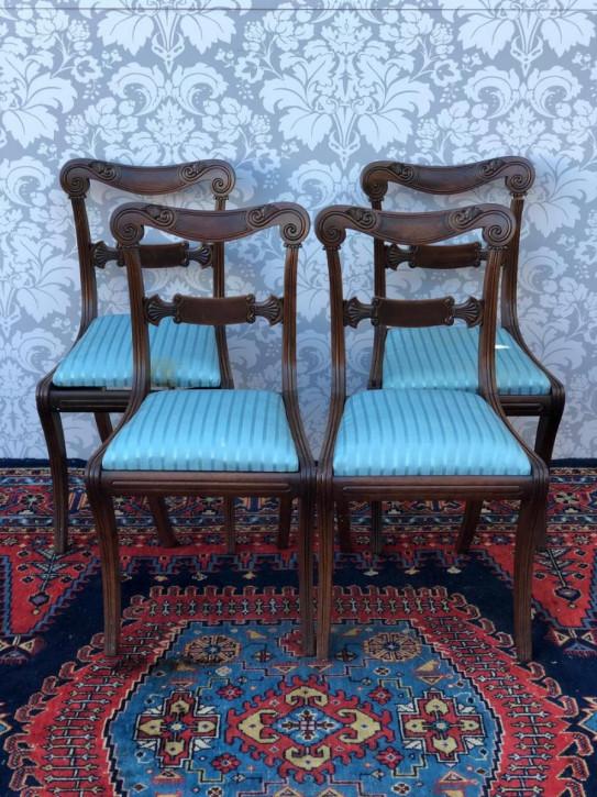 Antike englische Regency Stühle Palisander ca 1810