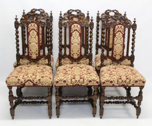 Antike viktorianische Eichen Stühle Britisch ca 1880