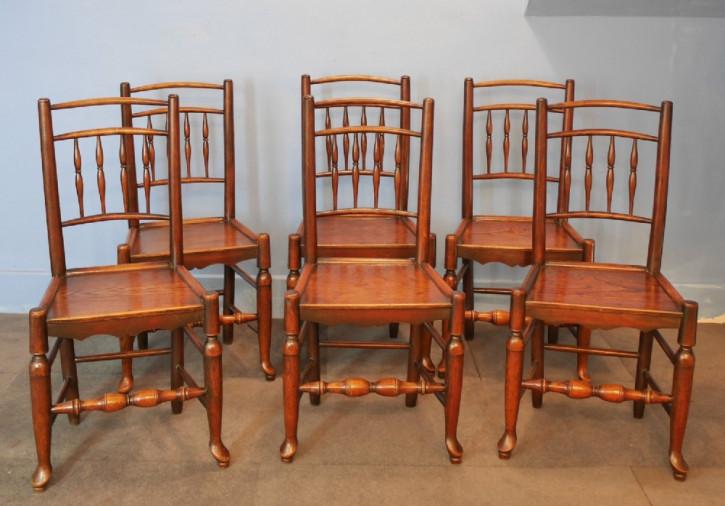 Antike georgianische Eschen Ulmen Stühle britisch ca 18. Jh