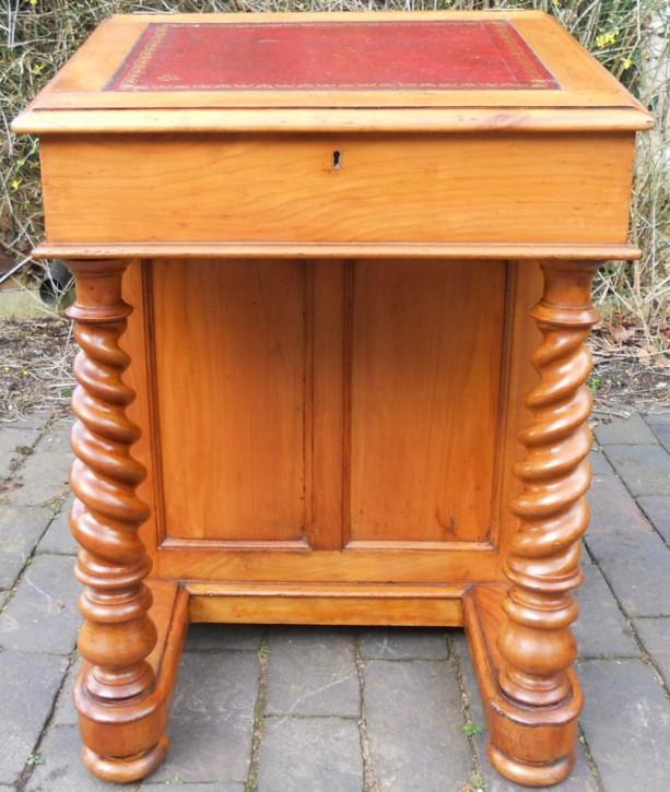 Viktorianischer Englischer Mahagoni Davenport Schreibtisch antik ca. 1840