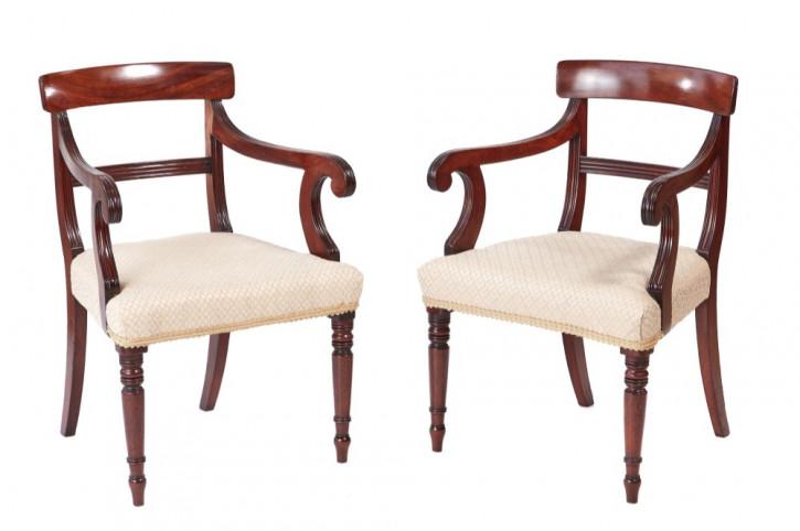 Georgianische antike Mahagoni Stühle Küchenstühle britisch 18. Jh