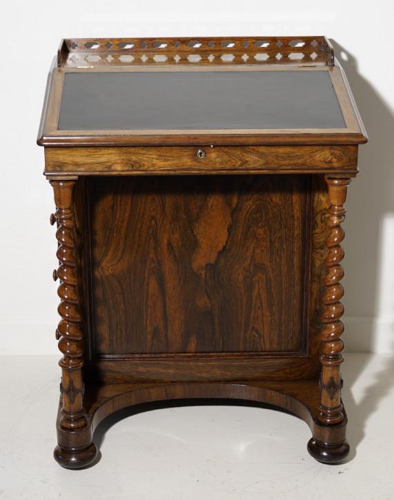 Antiker Englischer Palisander Davenport Schreibtisch viktorianisch ca. 1850