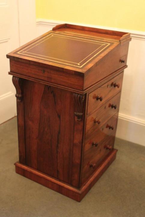 Regency Antiker Englischer George IV Palisander Davenport ca. 1820