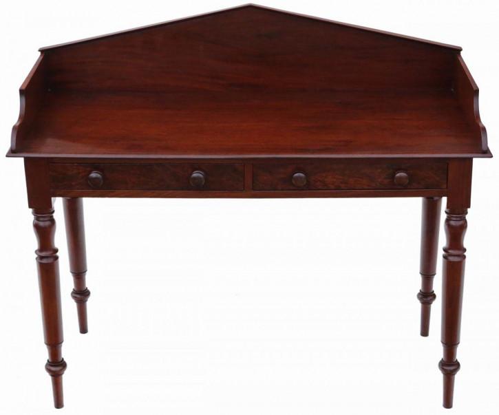 Antiker britischer Mahagoni Schreibtisch ca 1835
