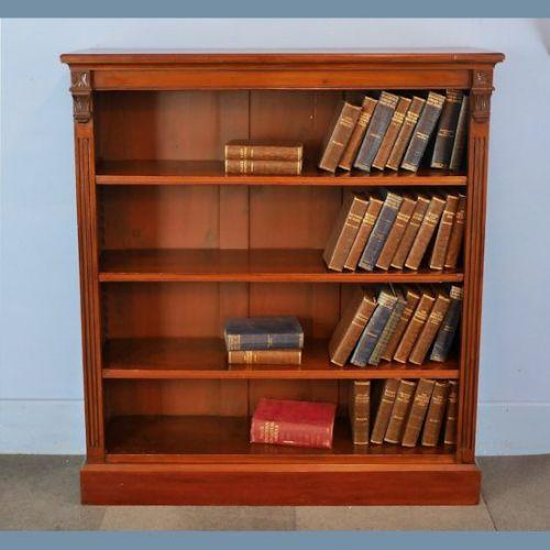 Viktorianisches antikes Bücherregal Nussbaum britisch ca 1870