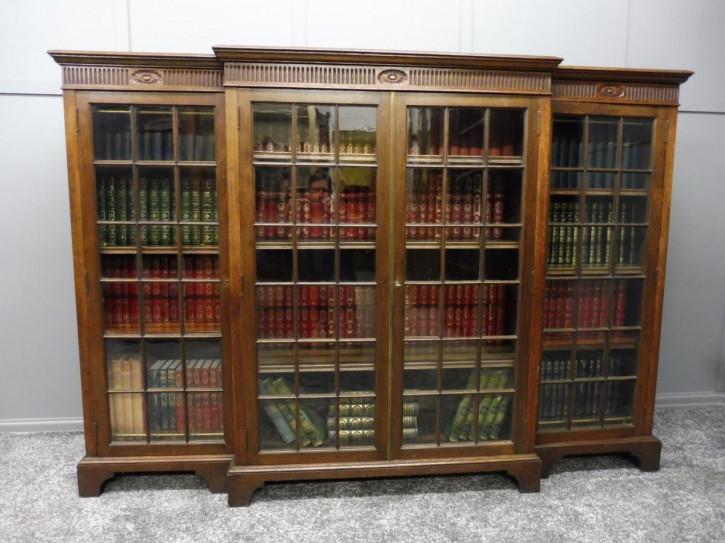 Antiker britischer Bücherschrank Eiche ca 1920