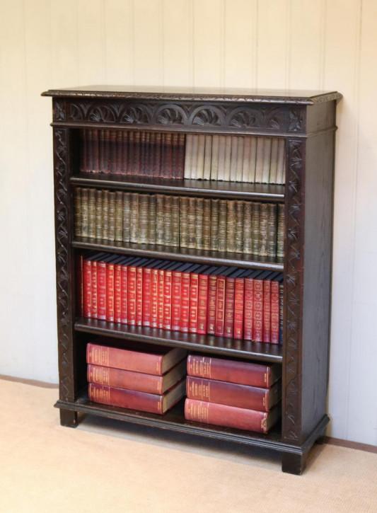 Viktorianischer antiker Eichen Bücherschrank britisch ca 1880