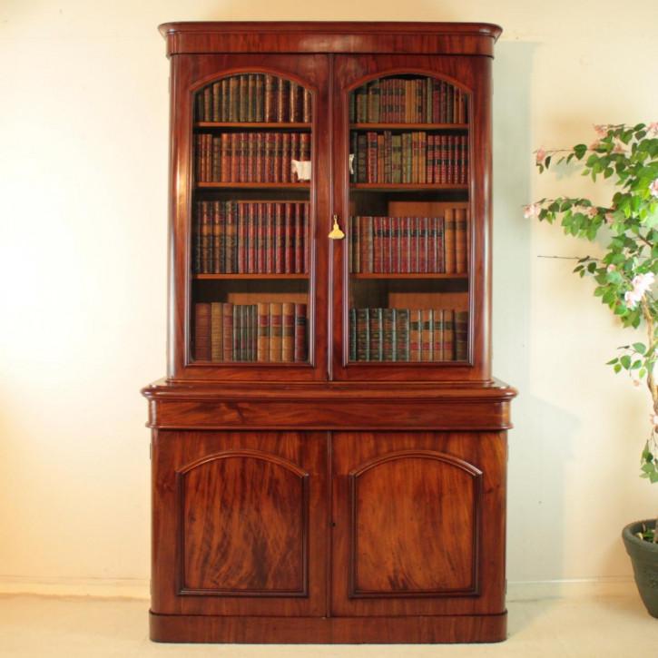 Viktorianischer antiker Mahagoni Bücherschrank britisch ca 1870