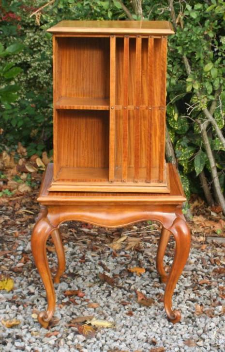 Edwardianisches Satinholz Revolving Bookcase antik britisch ca 1890