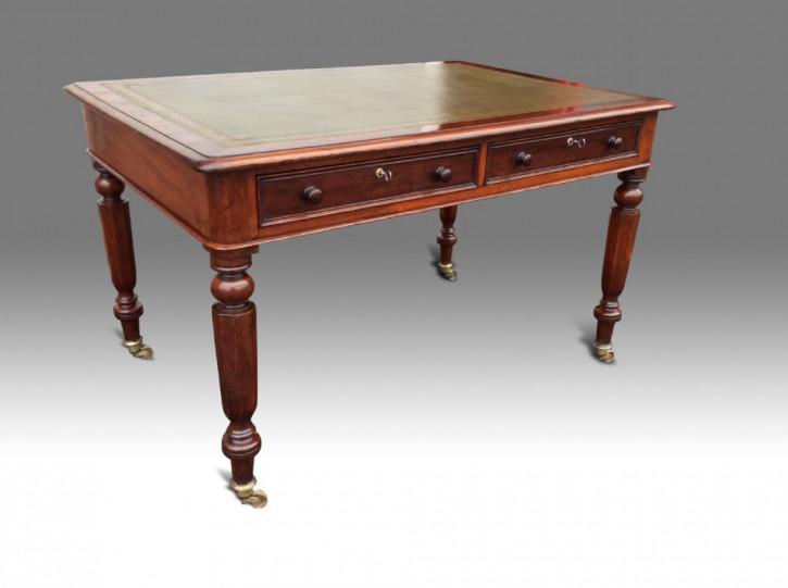 Britischer antiker Mahagoni Schreibtisch ca 18. Jh