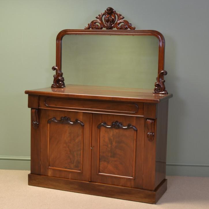 Viktorianisches antikes Mahagoni Sideboard britisch ca 1870