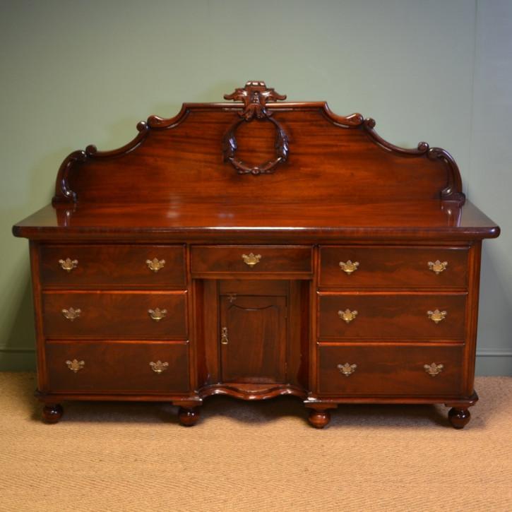 Viktorianisches antikes Mahagoni Sideboard britisch ca 1880
