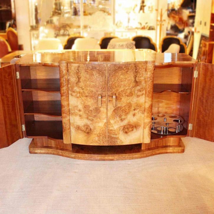 Antikes Art Deco Sideboard Nussbaum englisch ca 1930