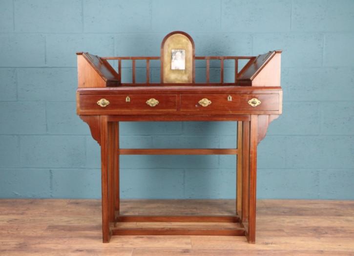 Antiker Arts & Crafts Schreibtisch Mahagoni britisch ca 1900