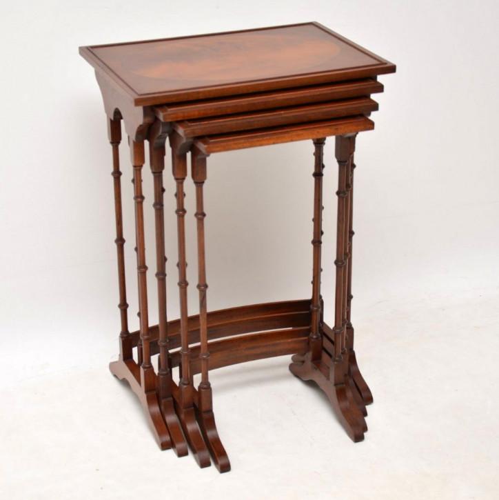 Antike britische Regency Tische Mahagoni ca 1930 Nest of tables