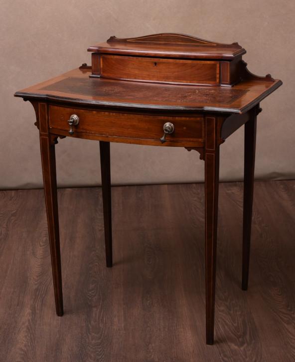 Edwardianischer antiker Mahagoni Schreibtisch Damenschreibtisch britisch ca 1890