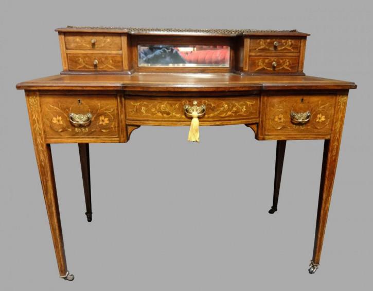 Britischer antiker Palisander Schreibtisch ca 1900