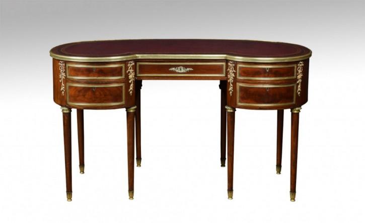 Antiker britischer Mahagoni Schreibtisch ca 19. Jh