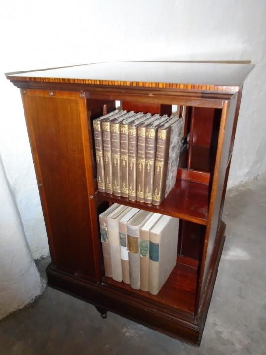Antikes britisches Revolving Bookcase Mahagoni Bücherschrank ca 1910