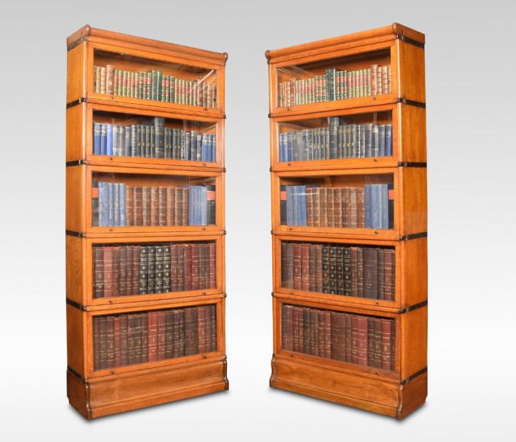 Antike britische Eichen Bücherschränke ca 1900