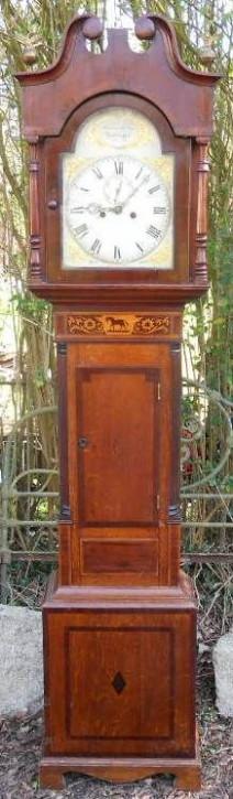Victorianische original antike Eichen Standuhr ca 1850