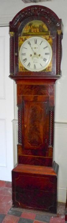 Antike britische Mahagoni Standuhr ca 19. Jh