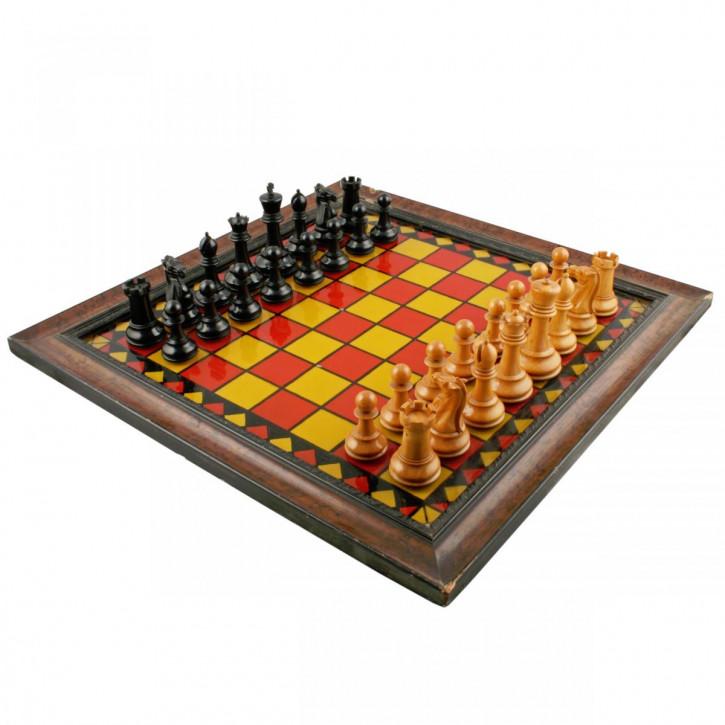 Antikes Englisches Ebenholz Schachspiel von Jaques & son ca. 1920